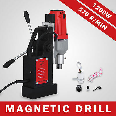 BRM35 Magnetic Drilling Machine Mag Drill 35mm 570RPM Spiral Drills Lightweight