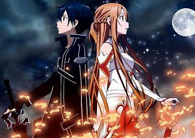 Hot Sword Art Online Wall poster Scroll Home Decor Japan Yuuki Asuna 245
