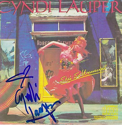 Cyndi Lauper signed She's So Unusual cd