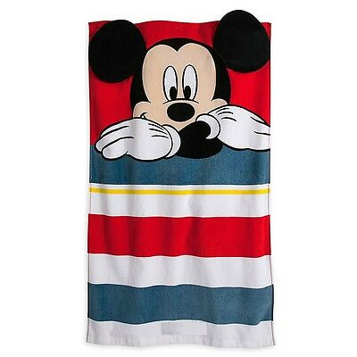 Disney Store Authentic Mickey Mouse Beach Towel w/ Ears For Baby New Gift