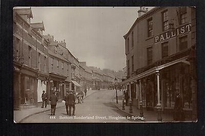 Houghton le Spring - Bottom Sunderland Street - real photographic postcard