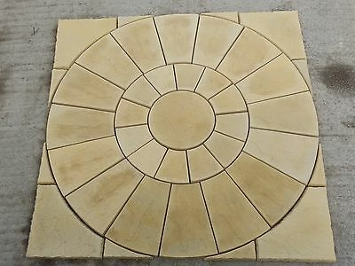 Stone Concrete Buff Circle Set 1.8m inc Squaring off Kit
