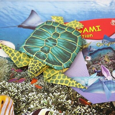 Creative Origami 3D Printed Paper Sea Life Set Turtle Dolphin Fish 8 Creatures