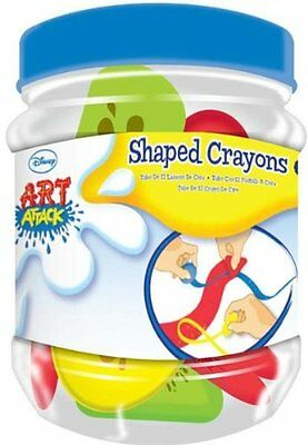 Disney Art Attack Shaped Crayons in Tub, Pack of 10