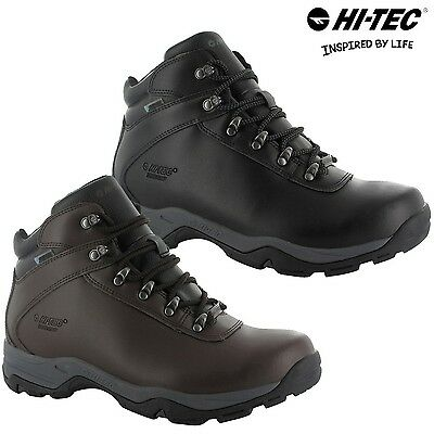 Hi-Tec Eurotrek III Leather Walking Hiking Waterproof Outdoor Mens Boots SZ 7-13