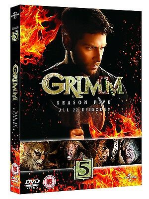 Grimm Complete Series Season 5, Dvd R4 5 Discs New & Sealed In Stock!!