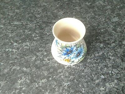 Vintage hand-painted axe Vale pottery Devon England small vase floral design