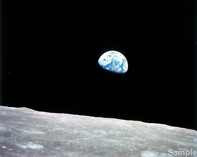 Earthrise As Seen From Apollo 8 Print NASA Space Photo Print Picture