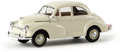 MORRIS MINOR in WHITE - FULLY ASSEMBLED HO SCALE by BREKINA