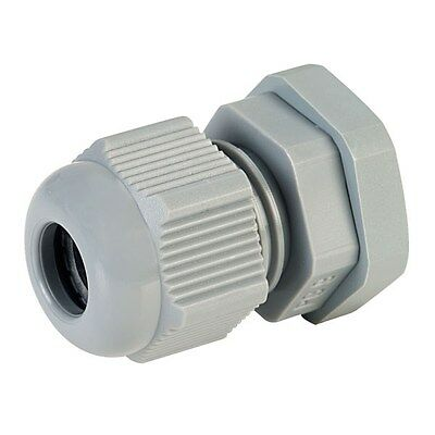 5x Jacob 50.009 PA PG9 Grey Dome Cable Gland