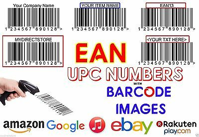 1500 UPC Numbers Barcodes Bar Code Number EAN any marketplace worldwide