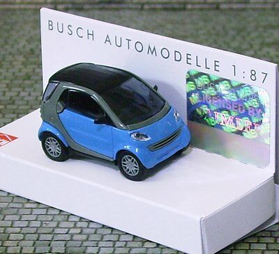 'BABY BLUE' SMART CAR - HO SCALE by BUSCH # 48900-180 - 1/87 assembled model