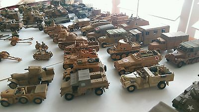Vintage Rare,ww2 Hand Made, Hand Painted, Army Toys 70 Pieces 1/76 Scale