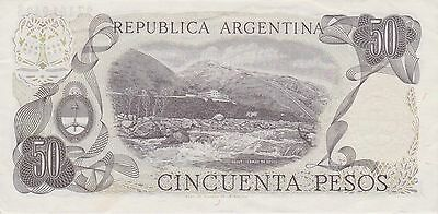 (N2-3) 1973 Argentina 50 pesos bank note (C)