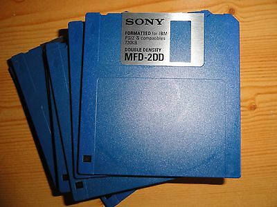 "3.5"" 720K DSDD FLOPPY DISK DOUBLE DENSITY - NEW - PC FAT formatted - 1x  SONY"
