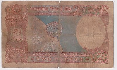 (N2-74) 1970s India 2 Rupees bank note (H)