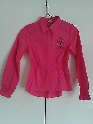 Camicia Titty Rock Star Rosa Fucsia Tweety Original Marines Tg 10 anni Originale