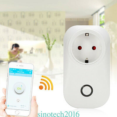 Sonoff S20 wifi enchufe de control remoto inalámbrico Smart Home Power Via App