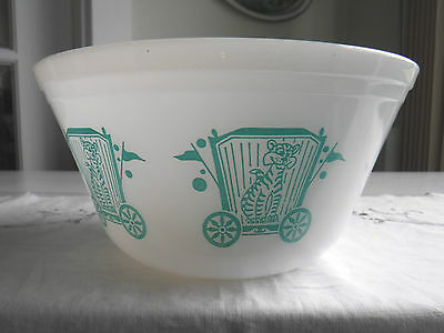 Vtg Federal Glass 8'' Nesting Mixing Bowl Circus Series