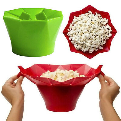 Healthy Cook Tools Microwave Silicone Magic Household Popcorn Maker Container