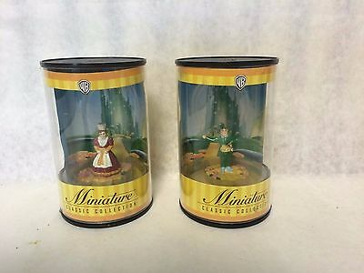 """2 Miniature Wb Classic Collection Wizard Of Oz  """"mayor And Town Lady"""""""