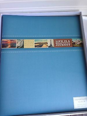 "Hallmark Photo Album ""Life is a Beautiful Journey"" Adhesive Pages NEW w/BOX"