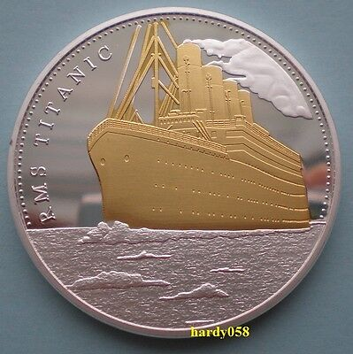 "RMS Titanic ""In memory of Titanic"" Silver & Gold Coin Plated 1oz"