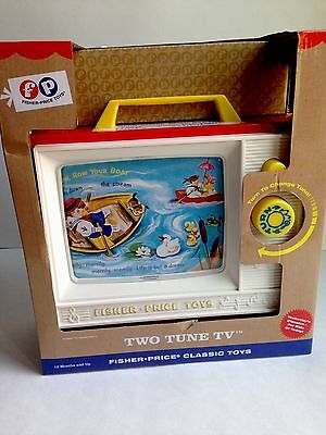 Fisher Price TWO TUNE TV Musical Toy Vintage Classic Look, NEW IN BOX!