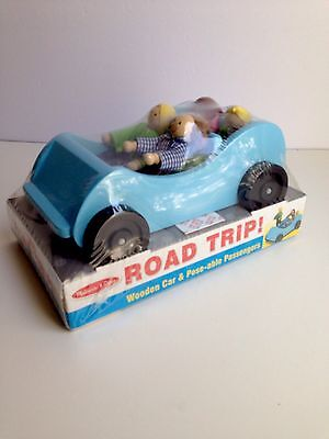 Melissa and Doug ROAD TRIP Wooden Playset Poseable People Classic Toy