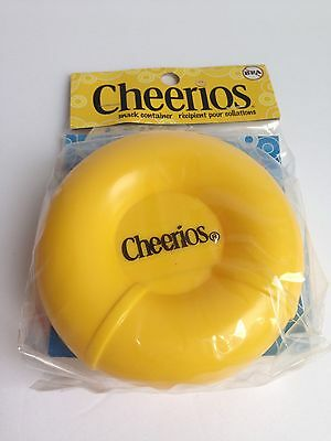 New in Pkg! CHEERIOS Cereal Yellow Snack Container Kids Plastic General Mills