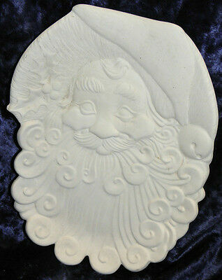 Ceramic Bisque Ready to Paint Santa Plate