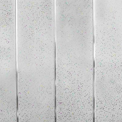 Platinum White Sparkle Chrome Wall Cladding Bathroom Kitchen Ceiling Panels PVC