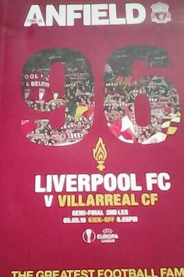 Liverpool V Villarreal (05/05/2016) Europa League Semi Final Programme
