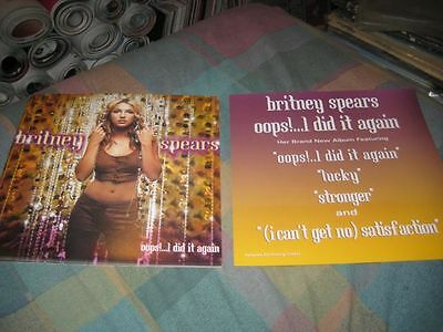 BRITNEY SPEARS-(oops!....i did it again)-1 POSTER-2 SIDED-12X12-NMINT-RARE