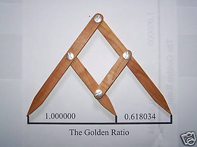 Fibonacci Gauge, Golden Ratio, Golden Mean Design Tool, PHI Caliper