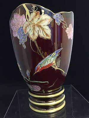 "Carlton Ware Rouge Royale ""new Mikado"" Design Tulip Shaped Vase"