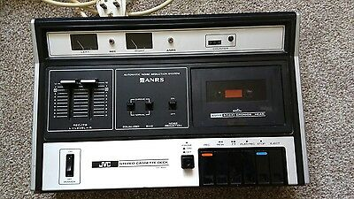 Vintage retro JVC CD-1656 STEREO CASSETTE DECK with ANRS tested and working