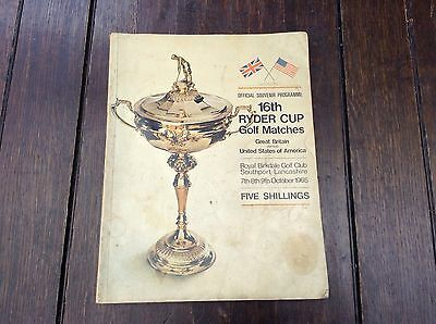 1965 16th Ryder Cup Golf Match Official Pogramme