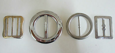 Four Belt Buckles - Silver and Gold in Colour