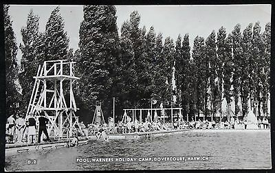 Old Real Photo Postcard - Pool, Warners Holiday Camp, Dovercourt, Essex