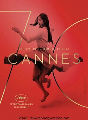 CANNES 2017 AFFICHE CINEMA ROULEE / ROLLED MOVIE POSTER 160x120