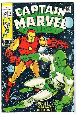 Captain Marvel #14 Featuring Iron Man, Very Fine - Near Mint Condition!