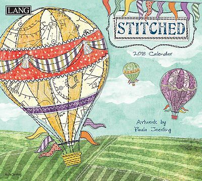 Stitched - 2018 Deluxe Wall Calendar - Brand New - Lang Art 1994