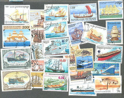 Ships on stamps 200 all different collection all types