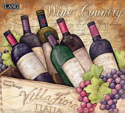 Wine Country - 2018 Deluxe Wall Calendar - Brand New - Lang Art 1885