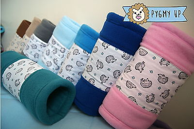 Fleece tunnel for African Pygmy hedgehog small pets guinea pig rat rodents