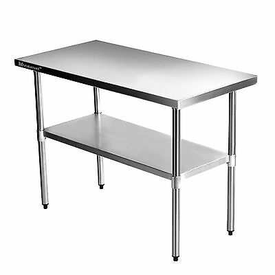 "36""x24"" Commercial Stainless Steel Kitchen Work Table  Bench Catering 3FTx2FT"