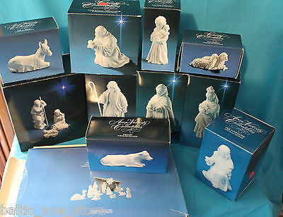 Rare AVON Manger Nativity Set 1983 Collection White Porcelain Figurines in Boxes