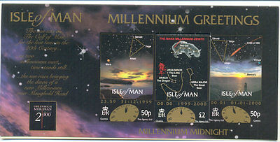 Isle of Man £2 Millenium Card valid for postage-Space