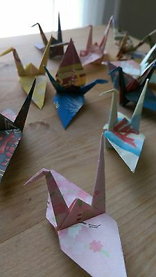 20 Handmade Origami Cranes (Small, Decorations, Wedding favours, Crafts)